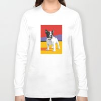 boston terrier Long Sleeve T-shirts featuring Boston terrier by Matt Mawson