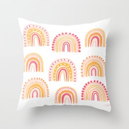 Cute rainbows Throw Pillow