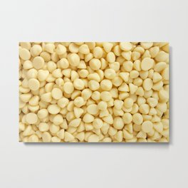 Milky white chocolate chips Metal Print