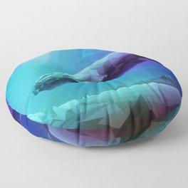 Leviathan (Multi-Blue) Floor Pillow