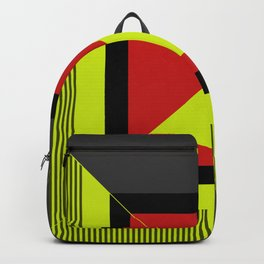 Squared Abstract art Backpack