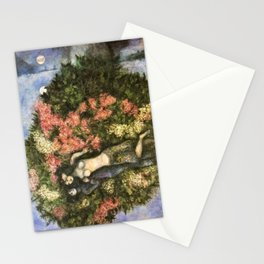 Lovers in the Lilacs by Marc Chagall Stationery Cards