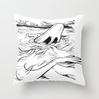 breathe Throw Pillows featuring Breathe by MrCapdevila / Bingo