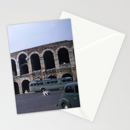 Vintage Color Photo * Verona Arena * Italy * 1950's * Antique Cars * Bus *Italian Stationery Cards