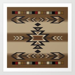 American Native Pattern No. 170 Art Print