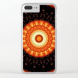 Mandala happy helloween Clear iPhone Case