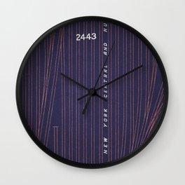 CITYSHAPES / Abstract Map 002 - New York Wall Clock