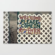 Always welcome Canvas Print