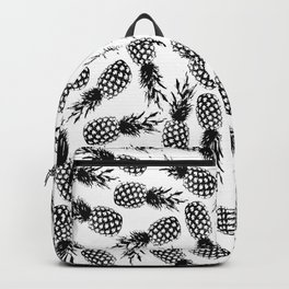 Abstract modern black white pineapple pattern Backpack