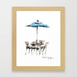 Blue Umbrella Framed Art Print