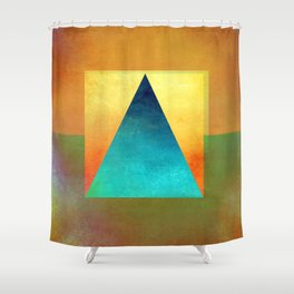 Triangle Composition XIII Shower Curtain