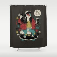 80s Shower Curtains featuring 80s power! by Louis Roskosch