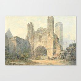 "J.M.W. Turner ""Saint Augustine's Gate, Canterbury"" Canvas Print"