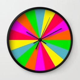 Neon Rainbow Burst Wall Clock