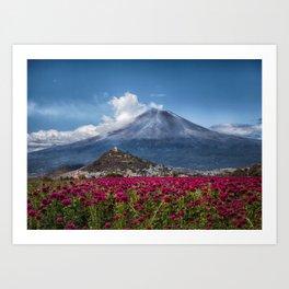 Popocatepetl Volcano Puebla Mexico Kunstdrucke