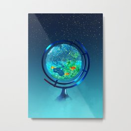 Glass Globe Metal Print