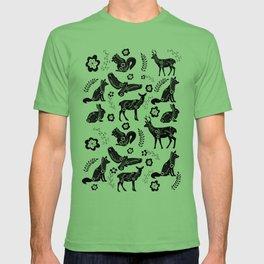 Folk Art Forest Animals T-shirt