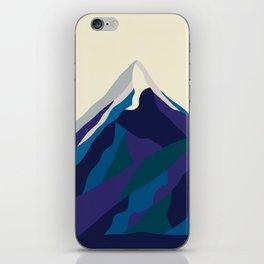 Mount Everest in Blue iPhone Skin