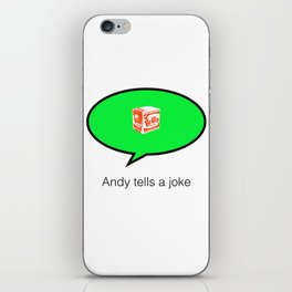 andy tells a clean joke iPhone Skin