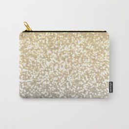 Gold and Silver Glitter Ombre Carry-All Pouch
