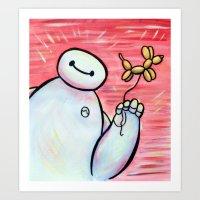 big hero 6 Art Prints featuring Baymax - Big Hero 6 by MSG Imaging