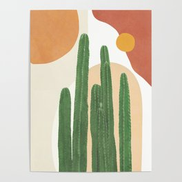 Abstract Cactus I Poster