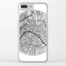 Paris Map Universe Clear iPhone Case