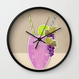 """Picture. The grape juice. From a set of paintings. The """"kitchen"""". Wall Clock"""