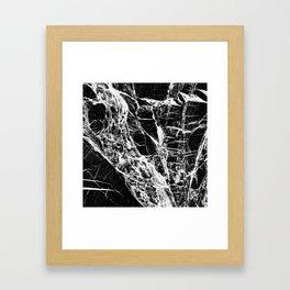 Black Marble Pattern Framed Art Print