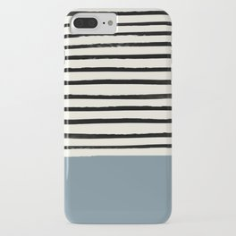 Dusty Blue x Stripes iPhone Case