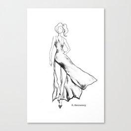 Lady Like - Black&White Canvas Print