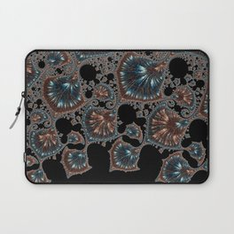 QUIN copper and blue on taupe linen Laptop Sleeve