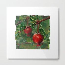 Tudor Pomegranate Tree Metal Print