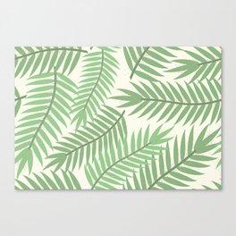 Vintage Florida Palm Fronds 2 Canvas Print