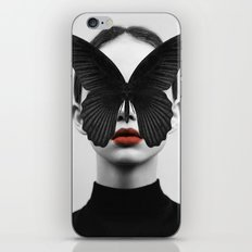 BLACK BUTTERFLY iPhone & iPod Skin