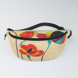 Exotic Watercolor Flower Fanny Pack