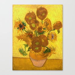 Vincent Van Gogh Fifteen Sunflowers In A Vase Canvas Print