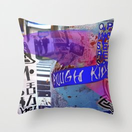 Tokyo tags Throw Pillow
