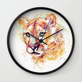 Cougar Head Wall Clock