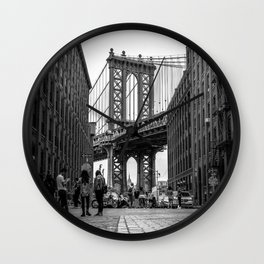 Manhattan Bridge Dumbo Brooklyn Wall Clock