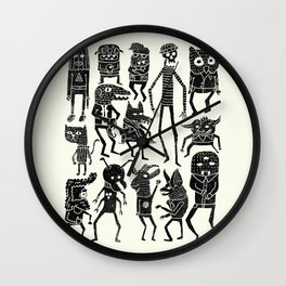 Bump in the Night Wall Clock