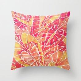 Schismatoglottis Calyptrata – Pink/Peach Palette Throw Pillow