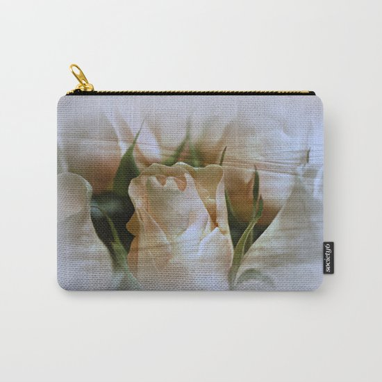 Cream Perfection Rose Abstract Carry-All Pouch