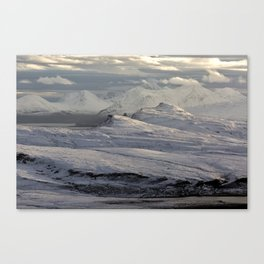 Trotternish Peninsula and Cuillin Mountains Isle of Skye Canvas Print