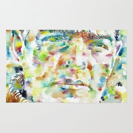 ERNEST SHAKLETON - watercolor portrait Rug