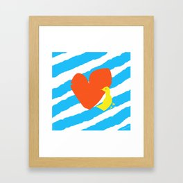 heart and bird Framed Art Print