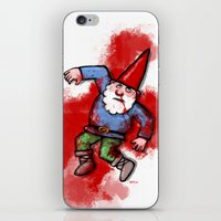 gnome iPhone & iPod Skins featuring Crushed Gnome by Stephan Brusche