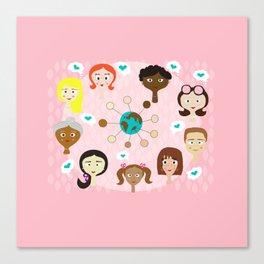 celebrating women international day Canvas Print