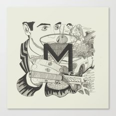 M is for Martini Canvas Print