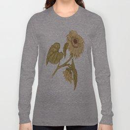 Vintage Sunflower Image T Long Sleeve T-shirt